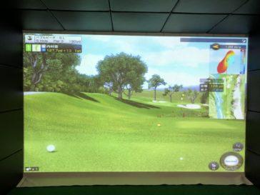 福岡のゴルフ練習場 スイングワン のシミュレーター5H