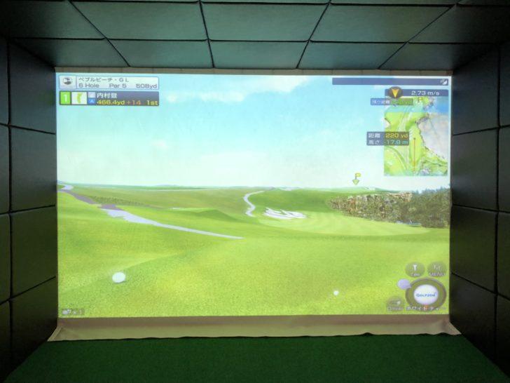 福岡のゴルフ練習場 スイングワン のシミュレーター6H